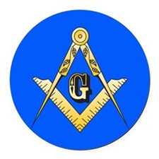 Masonic Round Car Magnet