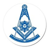 Masonic Past Master Car Magnet