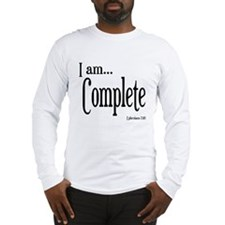 I am Complete Ephesians 2:10 Long Sleeve T-Shirt