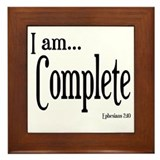 I am Complete Ephesians 2:10 Framed Tile