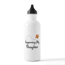 Support Daughter Orange Awareness Water Bottle