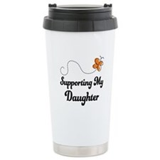 Support Daughter Orange Awareness Ceramic Travel M