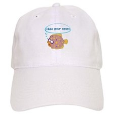 Gorgeous flounder fish [editable] Baseball Cap