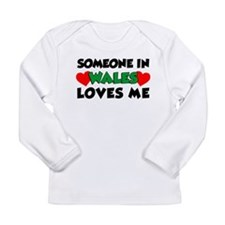 Someone In Wales Loves Me Long Sleeve Infant T-Shi