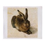 Albrecht Durer Young Hare Throw Blanket