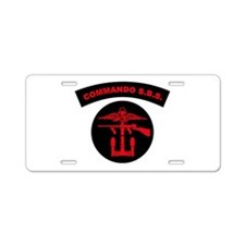 Commando S.B.S. Aluminum License Plate