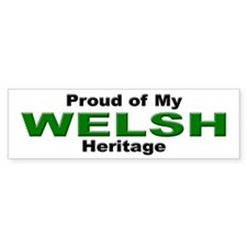 Proud Welsh Heritage Bumper Bumper Sticker