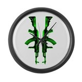 Green AKs Large Wall Clock