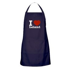 I Love Leland Apron (dark)
