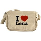 I Love Lena Messenger Bag