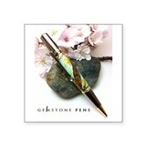 "GemStone Pens Sakura Logo Square Sticker 3"" x 3"""