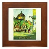 Belgium Travel Poster 1 Framed Tile