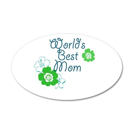 World's Best Mom 35x21 Oval Wall Decal