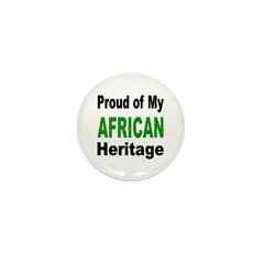 Proud African Heritage Mini Button (10 pack)