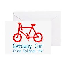 Fire Island Getaway Car Greeting Card