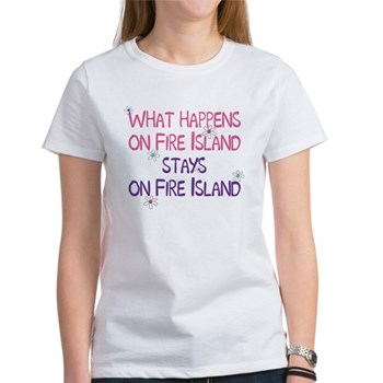 what happens on fire island t-shirt