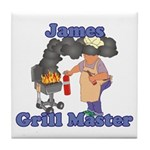 Grill Master James Tile Coaster