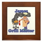 Grill Master James Framed Tile