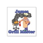 Grill Master James Square Sticker 3