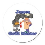 Grill Master James Round Car Magnet