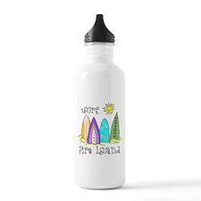 I Surf Fire Island Water Bottle