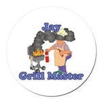Grill Master Jay Round Car Magnet