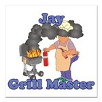 Grill Master Jay Square Car Magnet 3