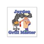 Grill Master Jayden Square Sticker 3