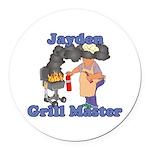 Grill Master Jayden Round Car Magnet