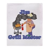 Grill Master Jim Throw Blanket