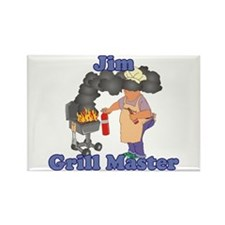 Grill Master Jim Rectangle Magnet