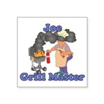 Grill Master Joe Square Sticker 3