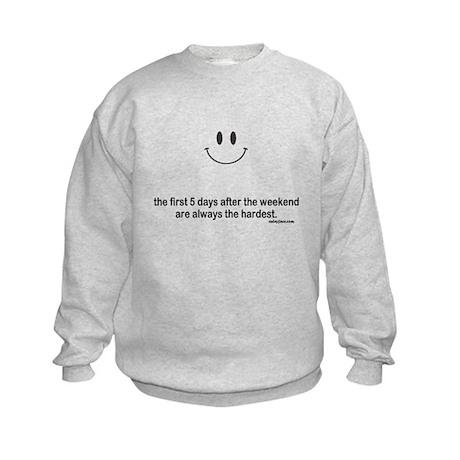 first 5 days Kids Sweatshirt