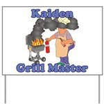 Grill Master Kaiden Yard Sign
