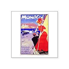 """Monaco Travel Poster 1 Square Sticker 3"""" x 3"""""""