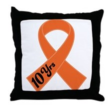 10 Year Leukemia Survivor Throw Pillow