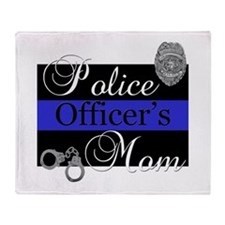 Police Mom Throw Blanket