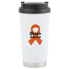 MS Awareness Ribbon Ceramic Travel Mug
