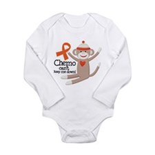 Leukemia Chemo Sock Monkey Long Sleeve Infant Body