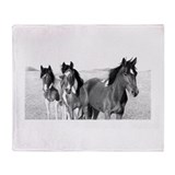 Ponies Jennifer Fox Art Throw Blanket