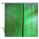 Banana Leaf Tropical Shower Curtain