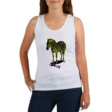 zebra skate Women's Tank Top