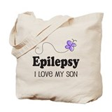 Epilepsy I Love My Son Tote Bag