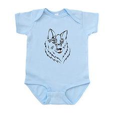 Black Wolf Tribal Tattoo Infant Bodysuit
