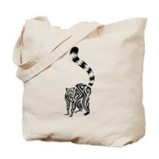 Black Lemur Tote Bag