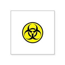 "Biohazard Square Sticker 3"" x 3"""