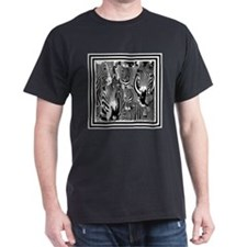 Zebra Faces Black T-Shirt