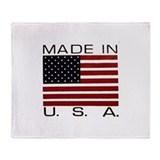 MADE IN USA VII.jpg Throw Blanket