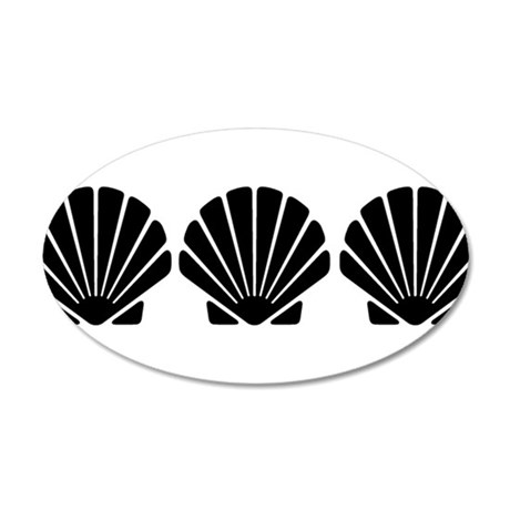 Three Sea Shells 20x12 Oval Wall Decal
