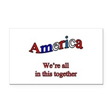 America3 copy.png Rectangle Car Magnet